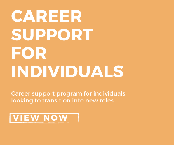 Career support for individuals poster